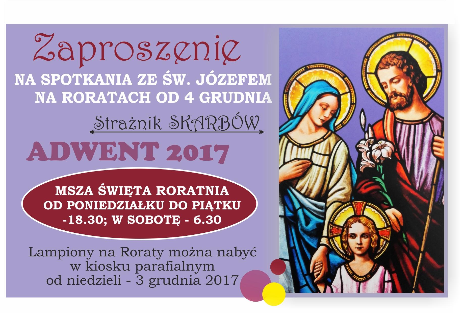 zaproszenie na RORATY 2017 NA WWW